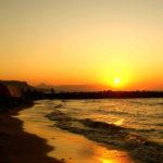 villa marina the beach during sun set